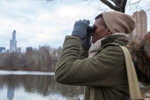 Birder in Central Park