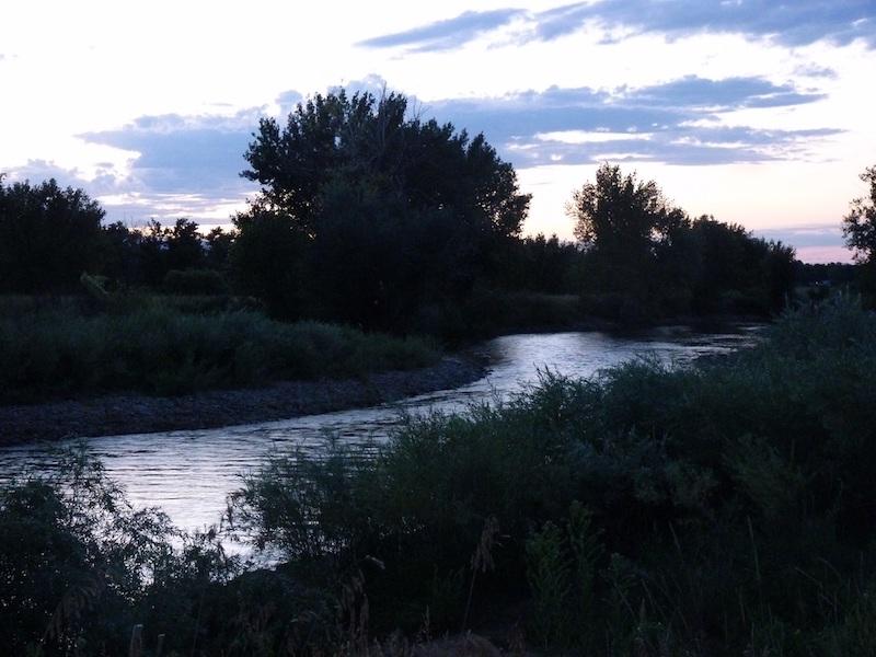 South Platte in twilight